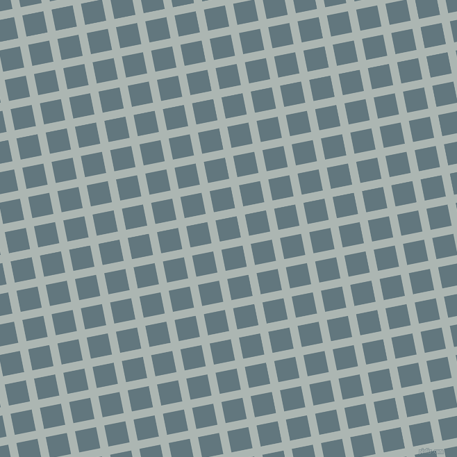 11/101 degree angle diagonal checkered chequered lines, 12 pixel line width, 31 pixel square size, Periglacial Blue and Blue Bayoux plaid checkered seamless tileable