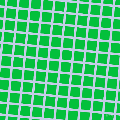 84/174 degree angle diagonal checkered chequered lines, 8 pixel lines width, 33 pixel square size, Periwinkle and Dark Pastel Green plaid checkered seamless tileable