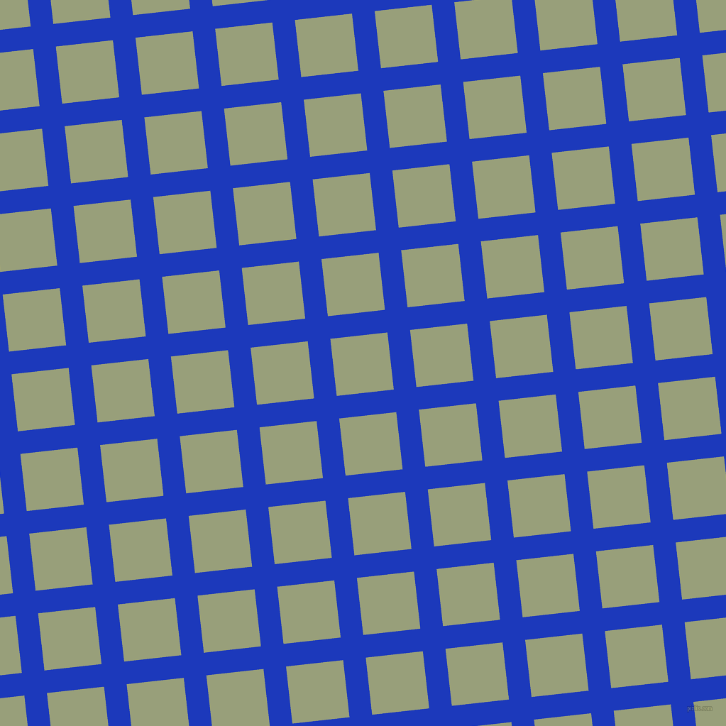 6/96 degree angle diagonal checkered chequered lines, 32 pixel line width, 81 pixel square sizePersian Blue and Sage plaid checkered seamless tileable