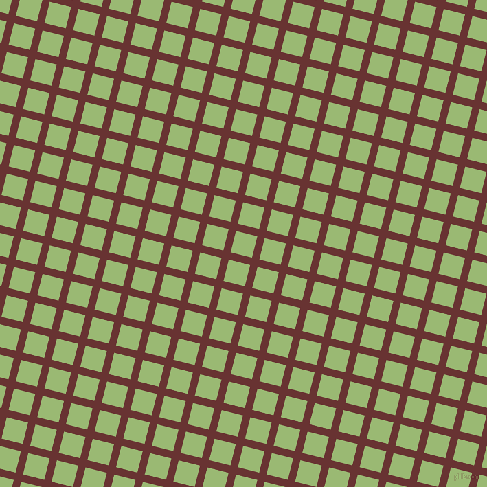 76/166 degree angle diagonal checkered chequered lines, 11 pixel lines width, 32 pixel square size, Persian Plum and Olivine plaid checkered seamless tileable