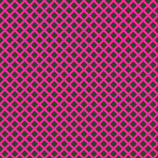 45/135 degree angle diagonal checkered chequered lines, 7 pixel line width, 17 pixel square size, Persian Rose and Seaweed plaid checkered seamless tileable