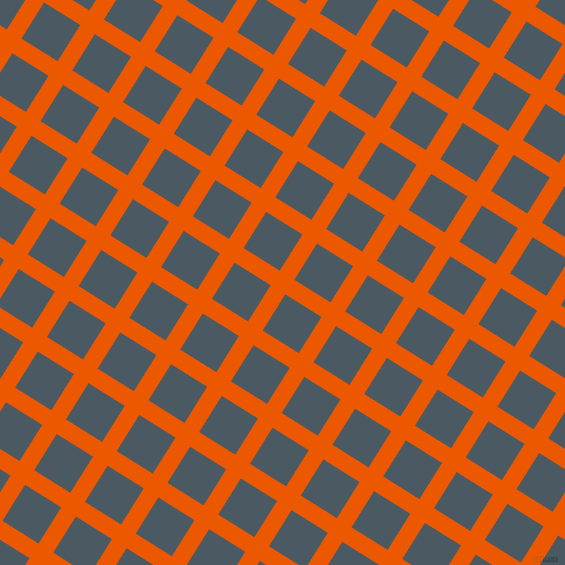 58/148 degree angle diagonal checkered chequered lines, 25 pixel line width, 62 pixel square size, Persimmon and Fiord plaid checkered seamless tileable