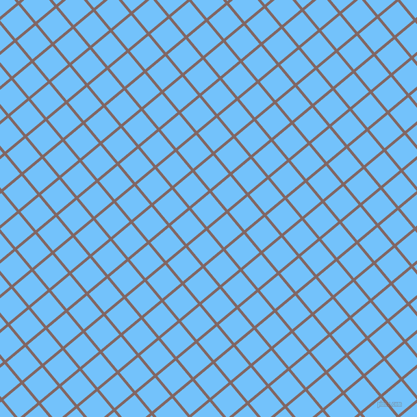 40/130 degree angle diagonal checkered chequered lines, 4 pixel line width, 35 pixel square size, Pharlap and Maya Blue plaid checkered seamless tileable