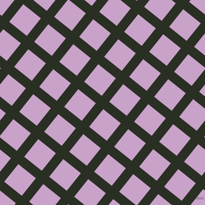 51/141 degree angle diagonal checkered chequered lines, 32 pixel lines width, 76 pixel square size, Pine Tree and Lilac plaid checkered seamless tileable