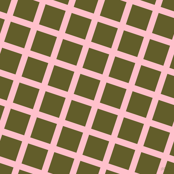 72/162 degree angle diagonal checkered chequered lines, 22 pixel line width, 73 pixel square size, Pink and Costa Del Sol plaid checkered seamless tileable
