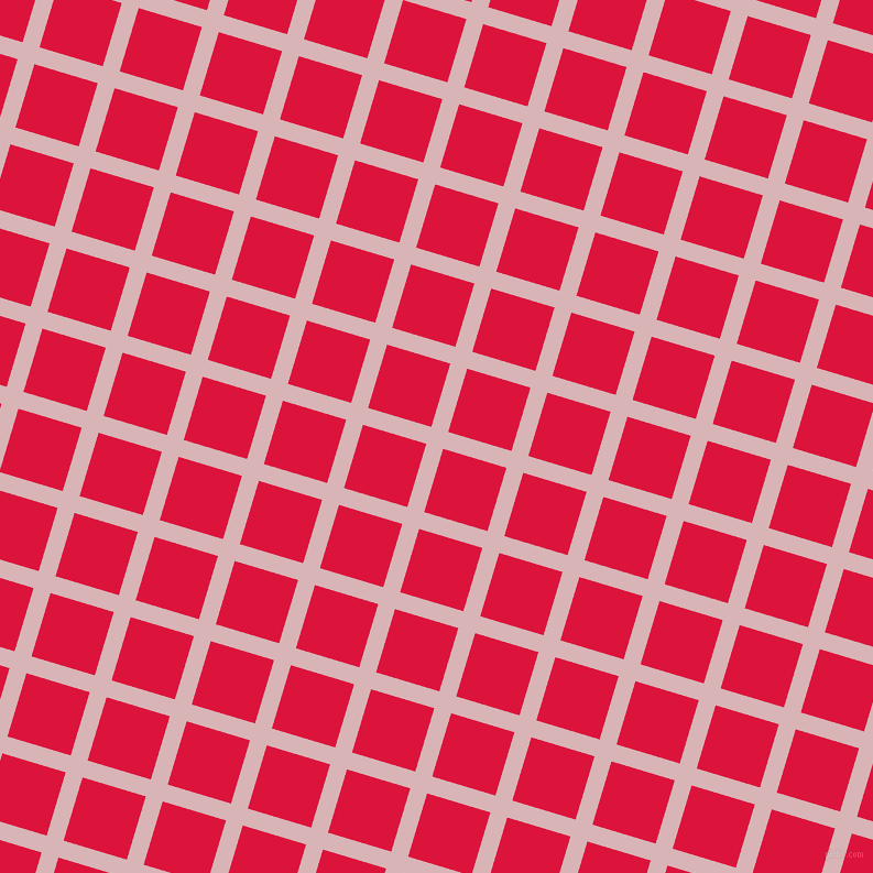73/163 degree angle diagonal checkered chequered lines, 16 pixel line width, 60 pixel square size, Pink Flare and Crimson plaid checkered seamless tileable