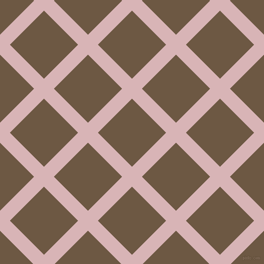 45/135 degree angle diagonal checkered chequered lines, 28 pixel lines width, 96 pixel square sizePink Flare and Tobacco Brown plaid checkered seamless tileable