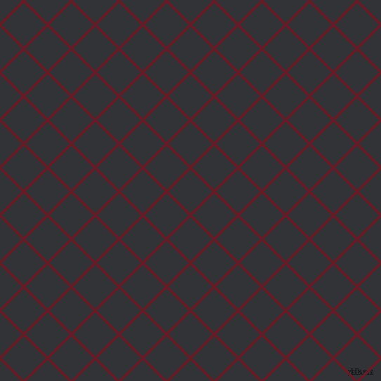 45/135 degree angle diagonal checkered chequered lines, 4 pixel line width, 44 pixel square size, Pohutukawa and Ebony plaid checkered seamless tileable