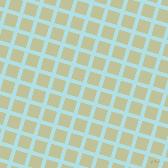 73/163 degree angle diagonal checkered chequered lines, 13 pixel line width, 42 pixel square size, Powder Blue and Green Mist plaid checkered seamless tileable