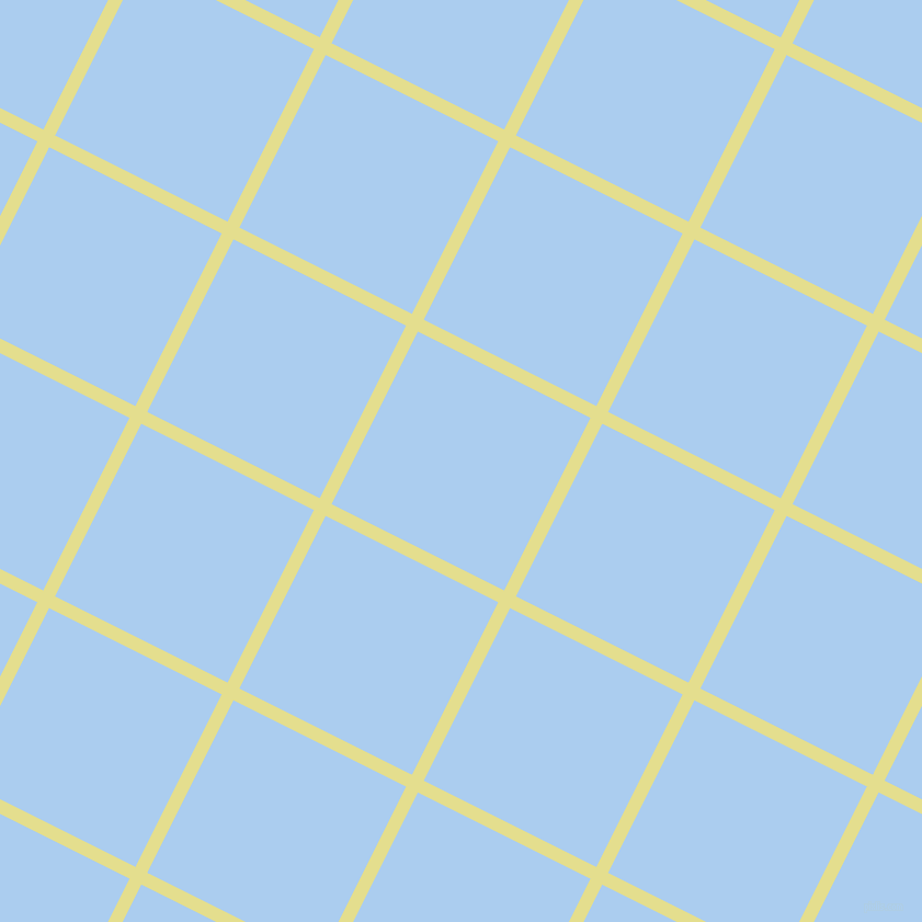 63/153 degree angle diagonal checkered chequered lines, 12 pixel line width, 176 pixel square size, Primrose and Pale Cornflower Blue plaid checkered seamless tileable