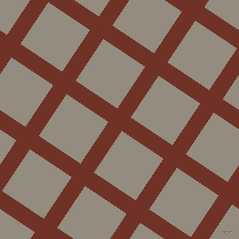 56/146 degree angle diagonal checkered chequered lines, 55 pixel line width, 171 pixel square size, Pueblo and Heathered Grey plaid checkered seamless tileable