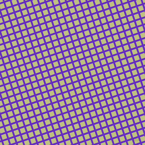 18/108 degree angle diagonal checkered chequered lines, 6 pixel line width, 16 pixel square size, Purple Heart and Pine Glade plaid checkered seamless tileable