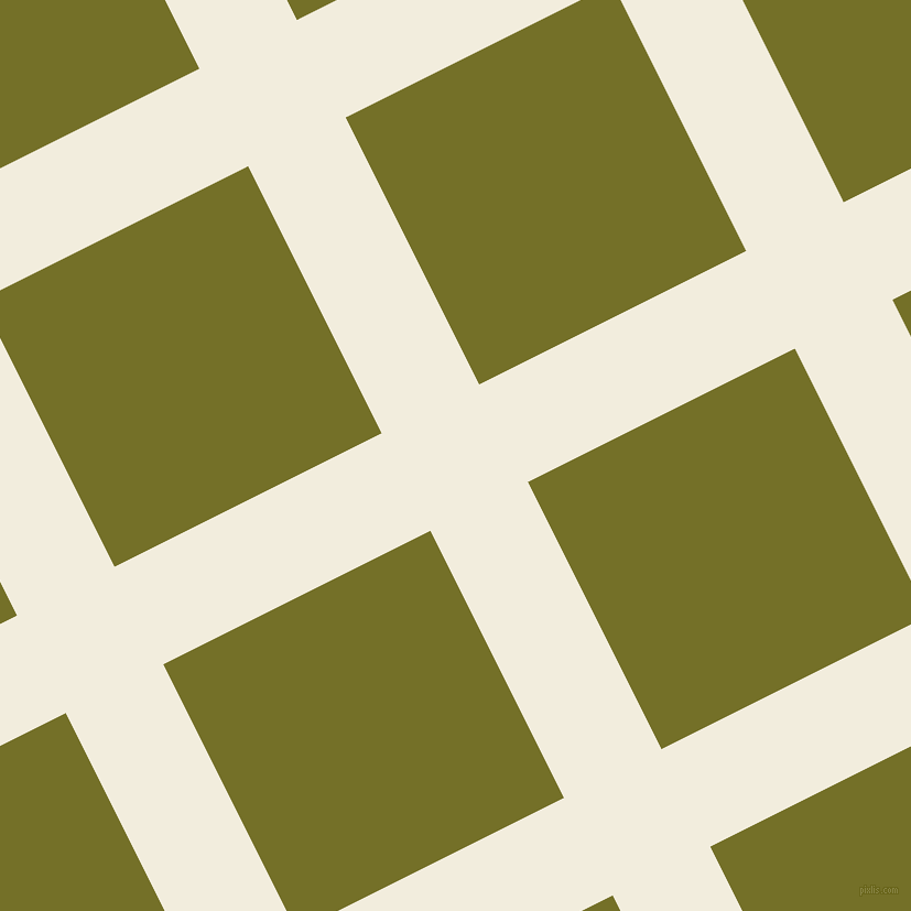 27/117 degree angle diagonal checkered chequered lines, 99 pixel lines width, 271 pixel square size, Quarter Pearl Lusta and Olivetone plaid checkered seamless tileable