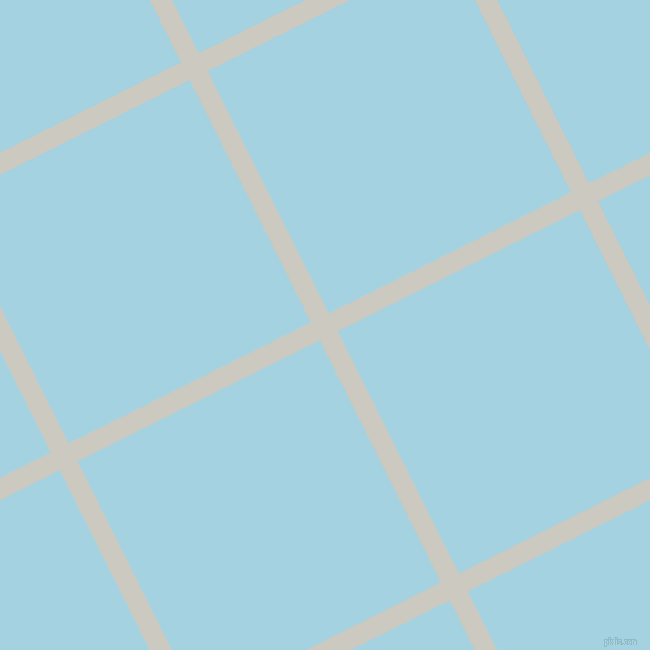 27/117 degree angle diagonal checkered chequered lines, 22 pixel lines width, 297 pixel square size, Quill Grey and French Pass plaid checkered seamless tileable