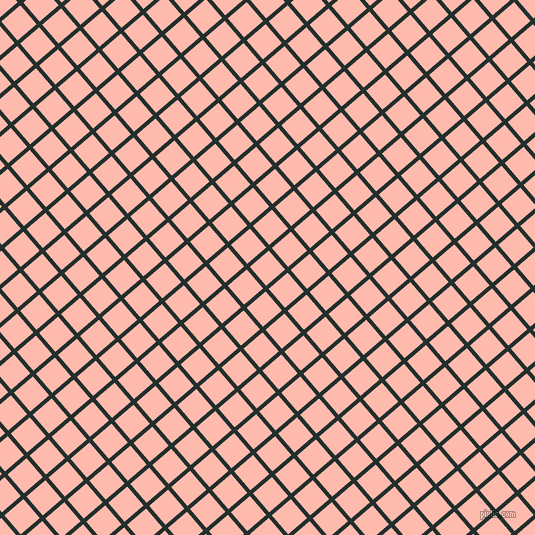 41/131 degree angle diagonal checkered chequered lines, 4 pixel lines width, 25 pixel square size, Racing Green and Melon plaid checkered seamless tileable