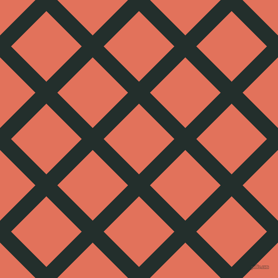 45/135 degree angle diagonal checkered chequered lines, 31 pixel lines width, 100 pixel square size, Racing Green and Terra Cotta plaid checkered seamless tileable
