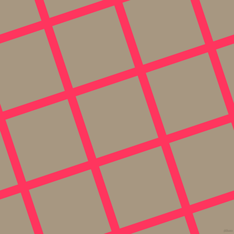 18/108 degree angle diagonal checkered chequered lines, 34 pixel lines width, 260 pixel square size, Radical Red and Bronco plaid checkered seamless tileable