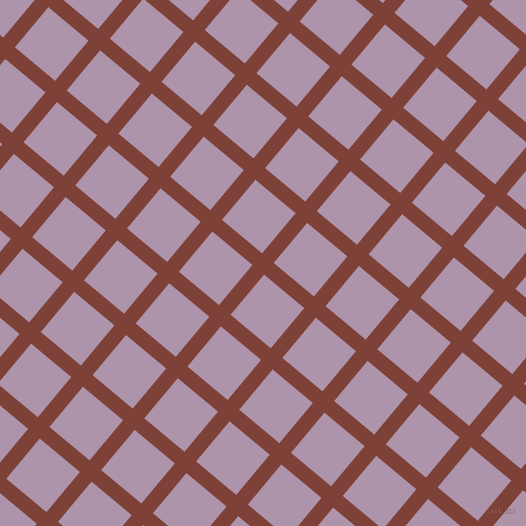 50/140 degree angle diagonal checkered chequered lines, 22 pixel lines width, 76 pixel square size, Red Robin and London Hue plaid checkered seamless tileable