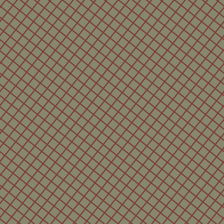 51/141 degree angle diagonal checkered chequered lines, 4 pixel line width, 24 pixel square size, Red Robin and Schist plaid checkered seamless tileable