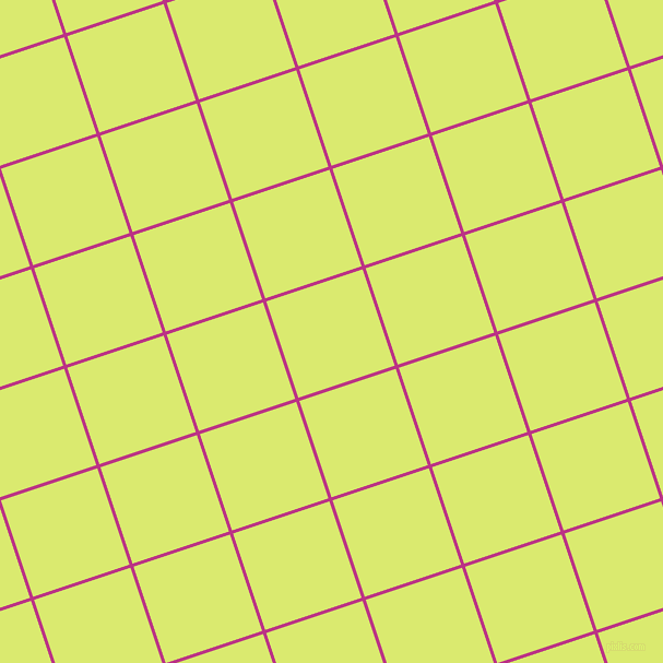 18/108 degree angle diagonal checkered chequered lines, 3 pixel lines width, 93 pixel square size, Red Violet and Mindaro plaid checkered seamless tileable