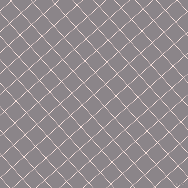 42/132 degree angle diagonal checkered chequered lines, 2 pixel line width, 53 pixel square size, Remy and Taupe Grey plaid checkered seamless tileable
