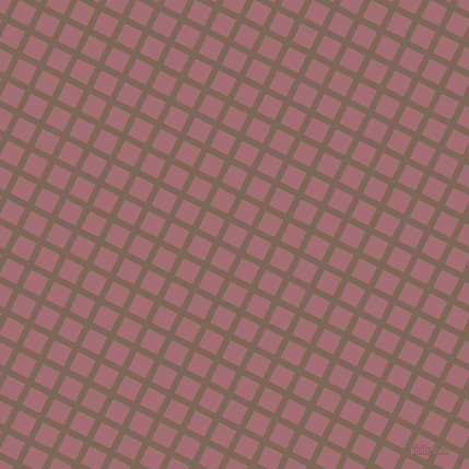 63/153 degree angle diagonal checkered chequered lines, 6 pixel lines width, 18 pixel square size, Roman Coffee and Turkish Rose plaid checkered seamless tileable