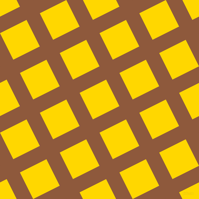 27/117 degree angle diagonal checkered chequered lines, 50 pixel line width, 100 pixel square size, Rope and Gold plaid checkered seamless tileable