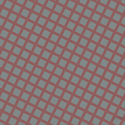 63/153 degree angle diagonal checkered chequered lines, 9 pixel line width, 23 pixel square size, Rose Taupe and Oslo Grey plaid checkered seamless tileable