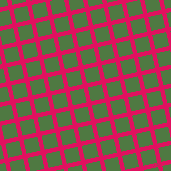 13/103 degree angle diagonal checkered chequered lines, 14 pixel line width, 46 pixel square size, Ruby and Fern Green plaid checkered seamless tileable