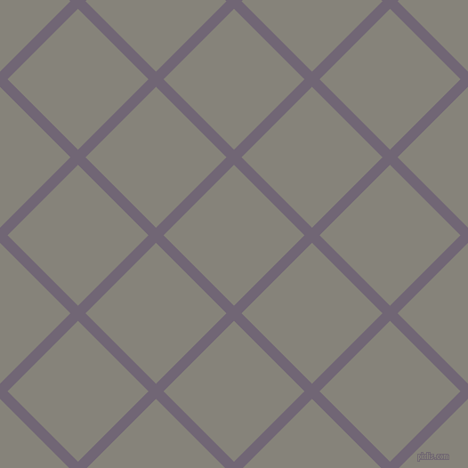 45/135 degree angle diagonal checkered chequered lines, 12 pixel line width, 112 pixel square size, Rum and Friar Grey plaid checkered seamless tileable