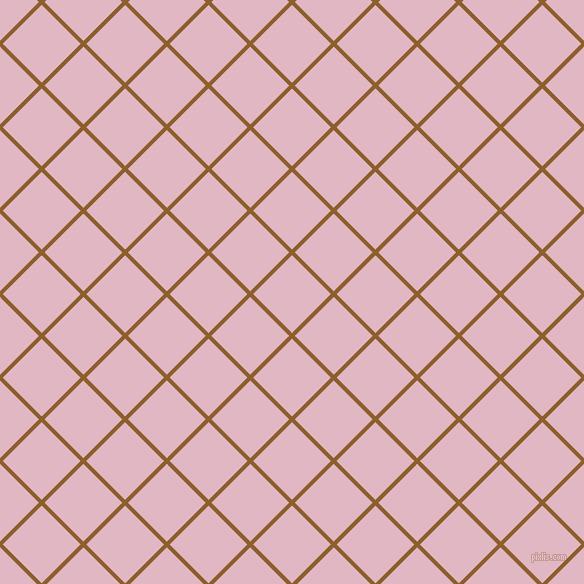 45/135 degree angle diagonal checkered chequered lines, 4 pixel line width, 55 pixel square size, Rusty Nail and Melanie plaid checkered seamless tileable