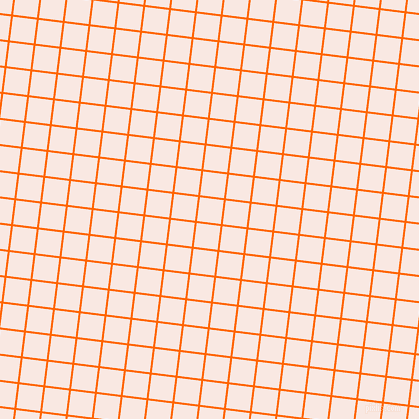83/173 degree angle diagonal checkered chequered lines, 2 pixel line width, 24 pixel square size, Safety Orange and Wisp Pink plaid checkered seamless tileable