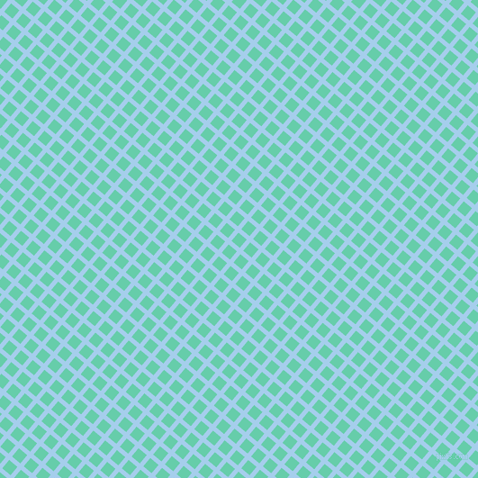 50/140 degree angle diagonal checkered chequered lines, 5 pixel line width, 12 pixel square size, Sail and Medium Aquamarine plaid checkered seamless tileable