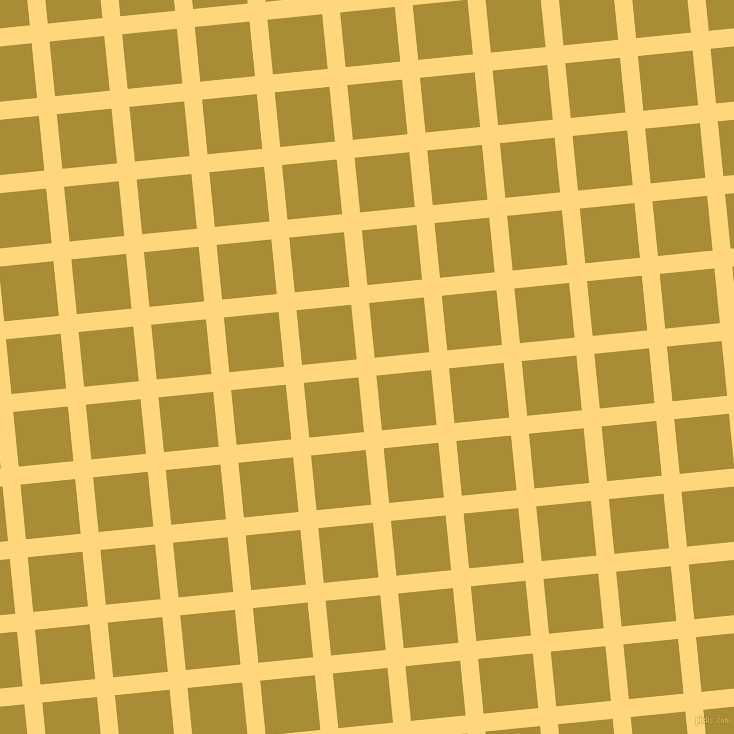 6/96 degree angle diagonal checkered chequered lines, 18 pixel lines width, 55 pixel square size, Salomie and Reef Gold plaid checkered seamless tileable
