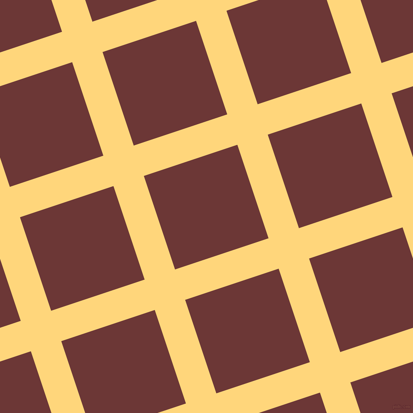 18/108 degree angle diagonal checkered chequered lines, 65 pixel line width, 200 pixel square size, Salomie and Sanguine Brown plaid checkered seamless tileable
