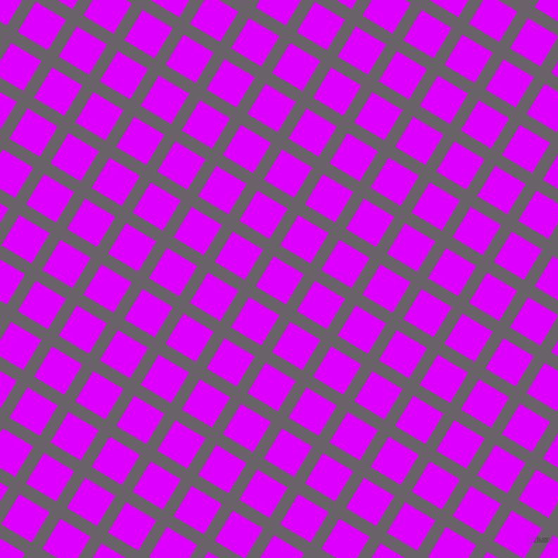 59/149 degree angle diagonal checkered chequered lines, 18 pixel line width, 50 pixel square size, Salt Box and Psychedelic Purple plaid checkered seamless tileable