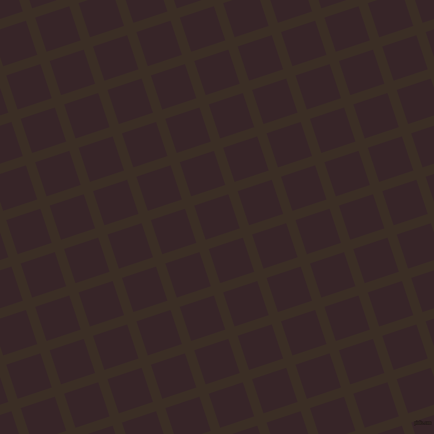 18/108 degree angle diagonal checkered chequered lines, 20 pixel line width, 74 pixel square size, Sambuca and Aubergine plaid checkered seamless tileable