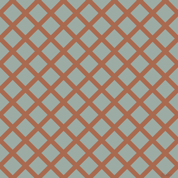 45/135 degree angle diagonal checkered chequered lines, 15 pixel line width, 44 pixel square size, Sante Fe and Tower Grey plaid checkered seamless tileable