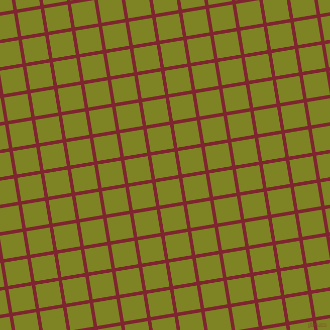 9/99 degree angle diagonal checkered chequered lines, 7 pixel line width, 47 pixel square size, Scarlett and Trendy Green plaid checkered seamless tileable