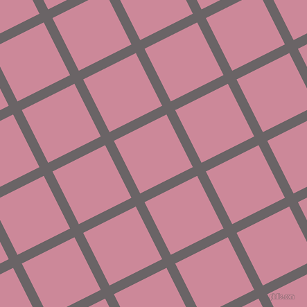 27/117 degree angle diagonal checkered chequered lines, 14 pixel line width, 85 pixel square size, Scorpion and Puce plaid checkered seamless tileable