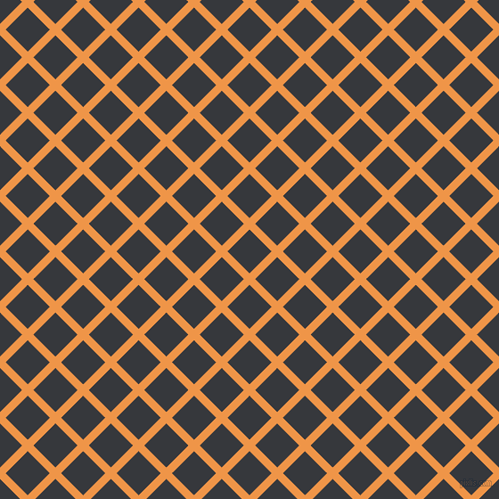 45/135 degree angle diagonal checkered chequered lines, 9 pixel lines width, 35 pixel square size, Sea Buckthorn and Vulcan plaid checkered seamless tileable