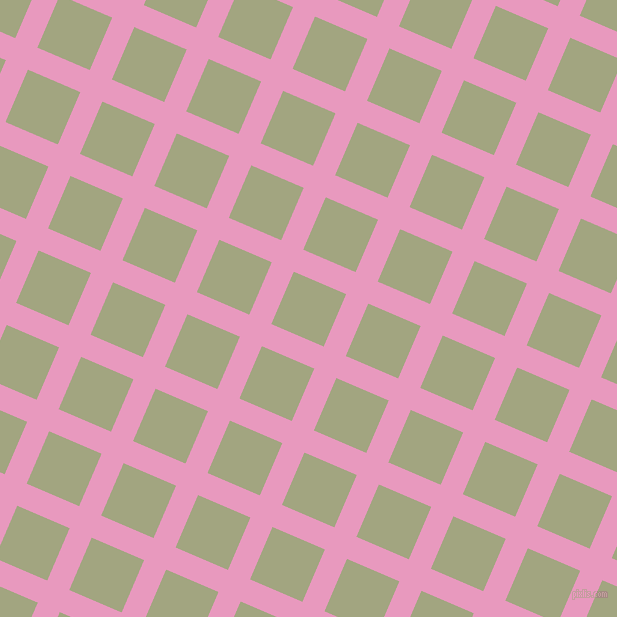 67/157 degree angle diagonal checkered chequered lines, 24 pixel lines width, 57 pixel square size, Shocking and Locust plaid checkered seamless tileable
