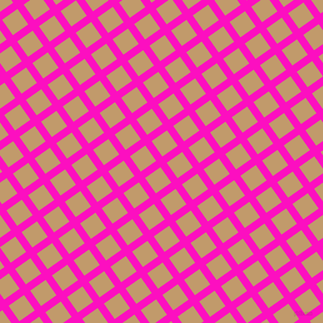 35/125 degree angle diagonal checkered chequered lines, 15 pixel lines width, 37 pixel square size, Shocking Pink and Fallow plaid checkered seamless tileable