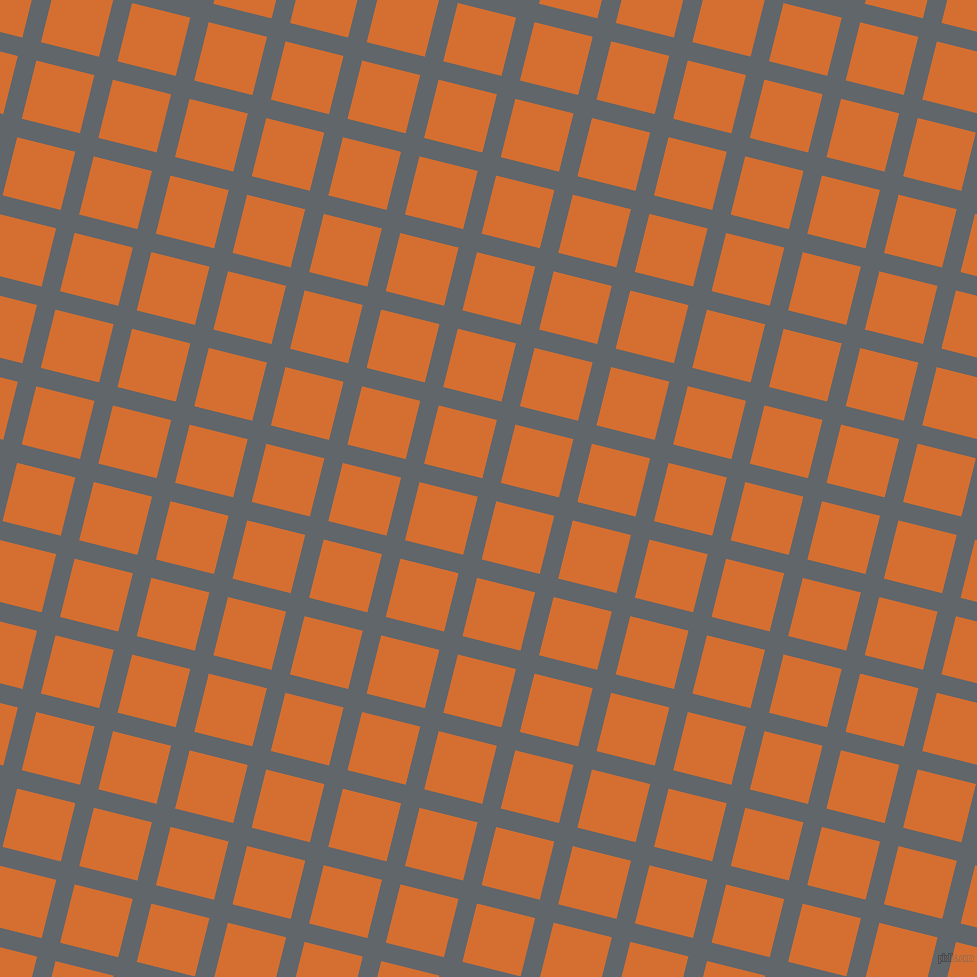 76/166 degree angle diagonal checkered chequered lines, 19 pixel lines width, 60 pixel square size, Shuttle Grey and Tango plaid checkered seamless tileable