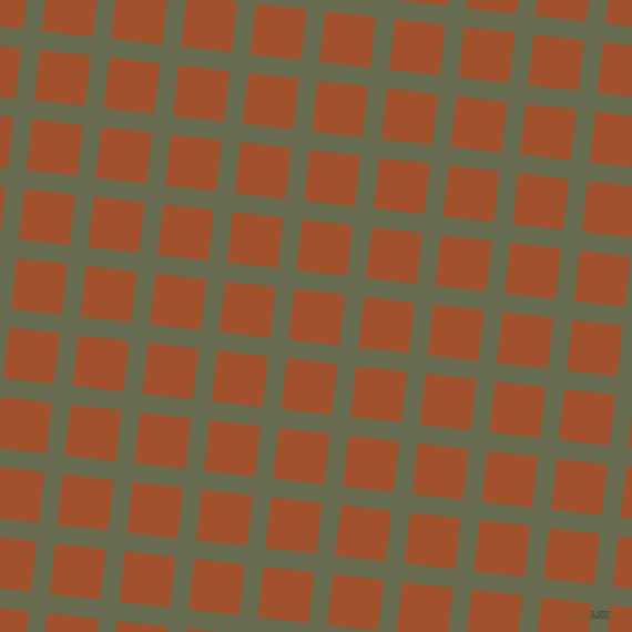 84/174 degree angle diagonal checkered chequered lines, 17 pixel lines width, 46 pixel square size, Siam and Sienna plaid checkered seamless tileable