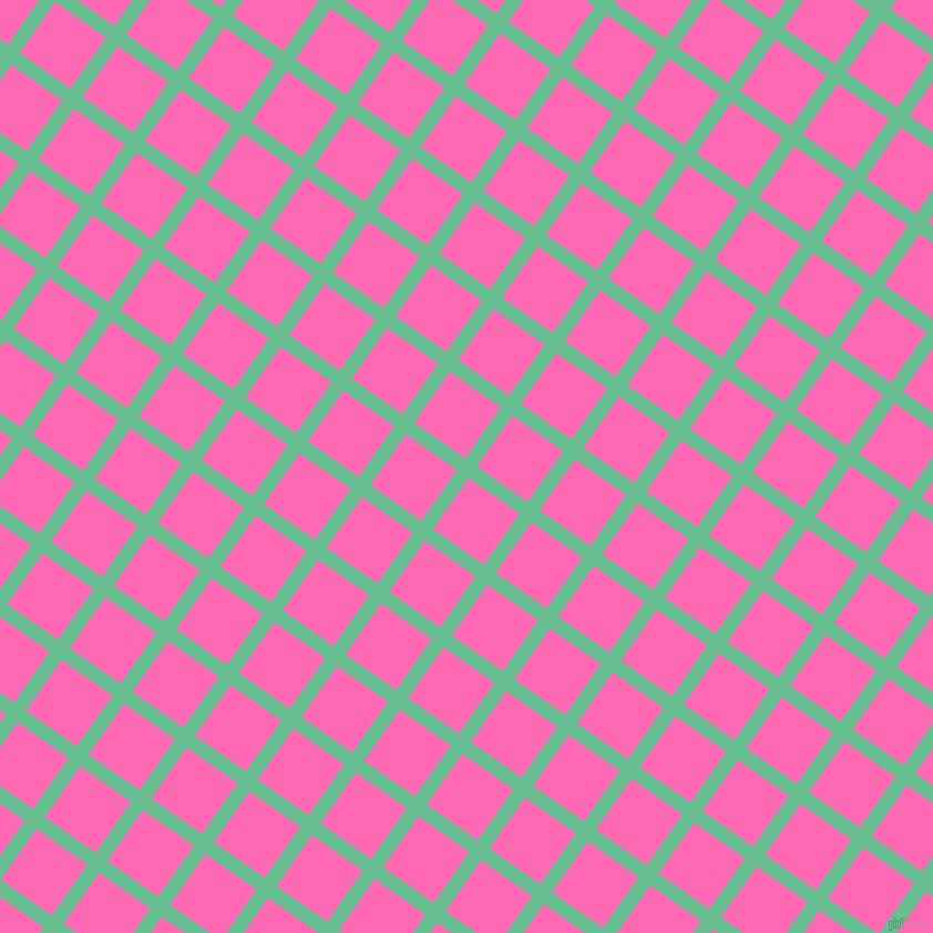 55/145 degree angle diagonal checkered chequered lines, 13 pixel lines width, 56 pixel square size, Silver Tree and Hot Pink plaid checkered seamless tileable