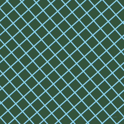 42/132 degree angle diagonal checkered chequered lines, 4 pixel lines width, 31 pixel square size, Sky Blue and Goblin plaid checkered seamless tileable