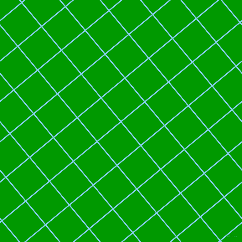 40/130 degree angle diagonal checkered chequered lines, 4 pixel lines width, 95 pixel square size, Sky Blue and Islamic Green plaid checkered seamless tileable