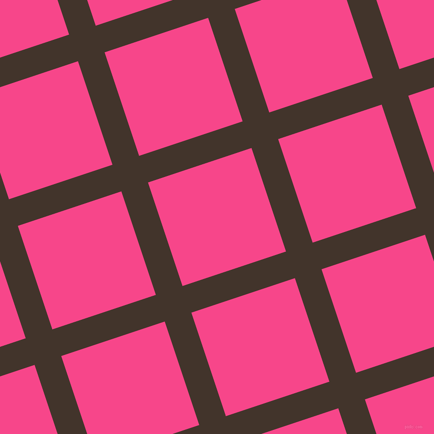 18/108 degree angle diagonal checkered chequered lines, 55 pixel line width, 214 pixel square size, Slugger and Violet Red plaid checkered seamless tileable