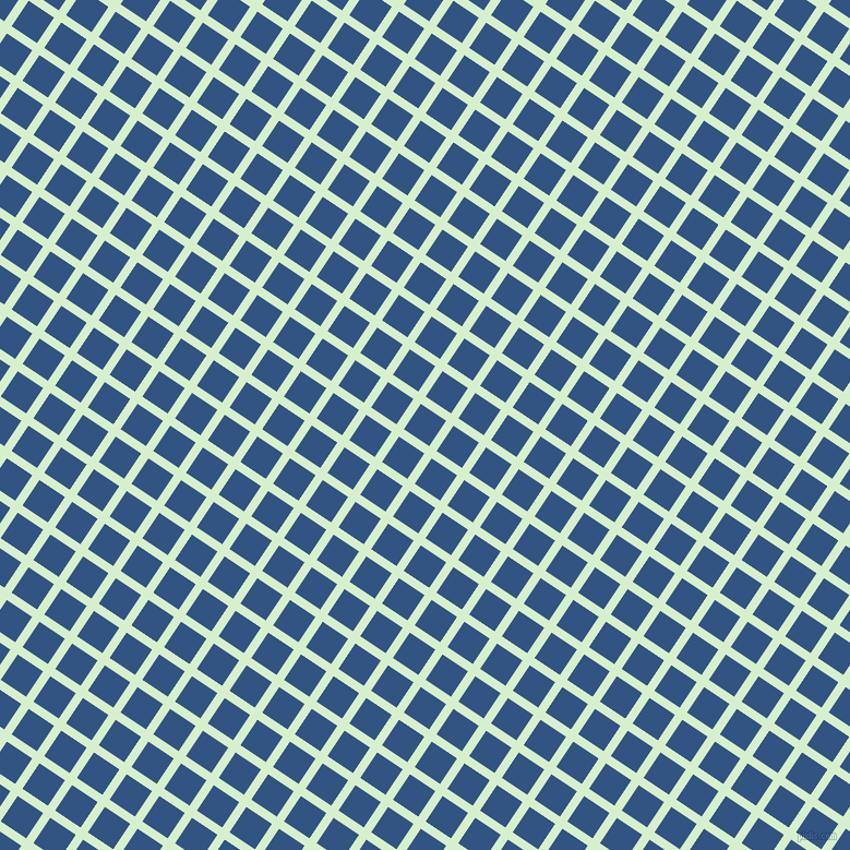56/146 degree angle diagonal checkered chequered lines, 8 pixel line width, 28 pixel square size, Snowy Mint and St Tropaz plaid checkered seamless tileable